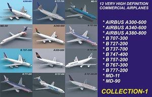 12 air airbus 3d model