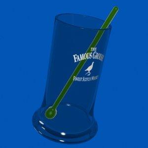3d model of highball glass