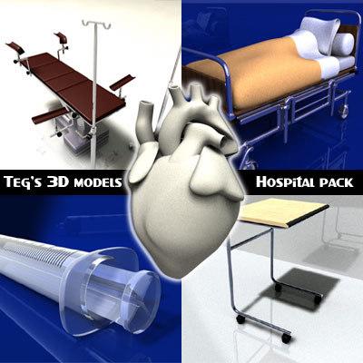 medical hospital operating 3d c4d