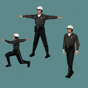 3ds max human cop police
