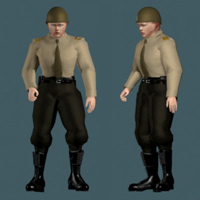 human soldier military 3d 3ds