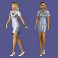 3d human nurse medical