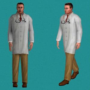 human doctor male 3d model