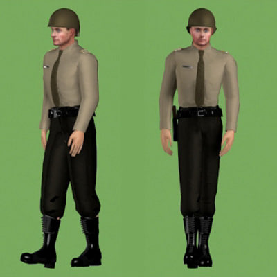 3ds human military soldier