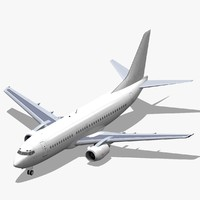 3d model b 737-300