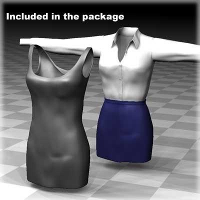 clothing female body 3d model