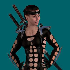 3d model human ninja warrior