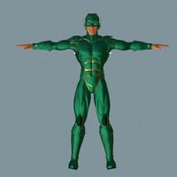 hero man 3d model