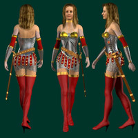 human gladiator woman 3ds
