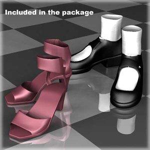 shoes female body 3d model