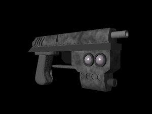 handgun neon genesis 3d model