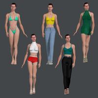 3d human woman female model