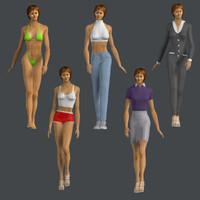 3d model human woman female