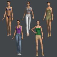 human woman female 3d 3ds
