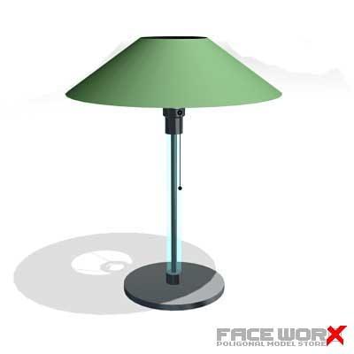 3d lamp table model