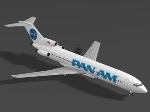 b 727-200 pan 3d max