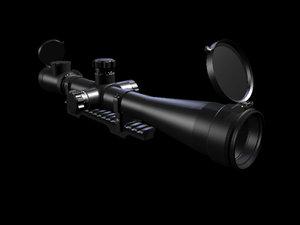 3d sniper rifle scope s