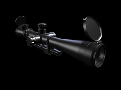 3d model sniper rifle scope s