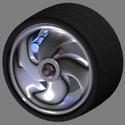 3d model car alloy wheel