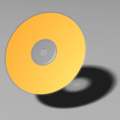 cd dvd compact disk 3d model