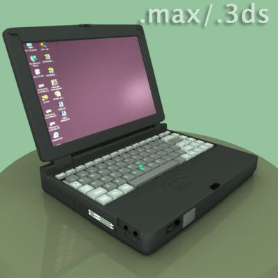 pc cd-rom 3d model