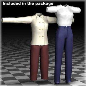 max clothing female body