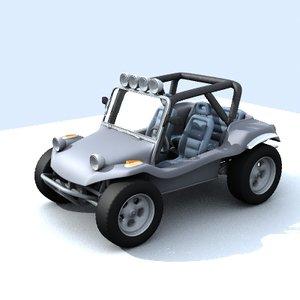 manx buggy 3d model