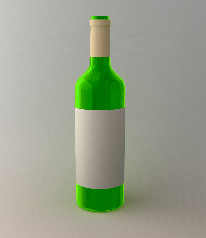 lwo white wine bottle