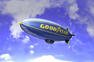 goodyear blimp 3d model