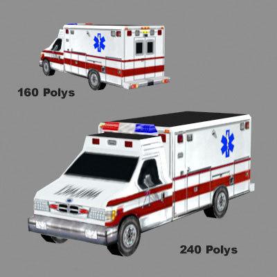 res ambulance 3d model