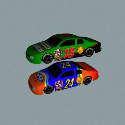 car nascar vehicle 3d model