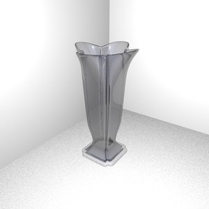 c4d vase flower glass
