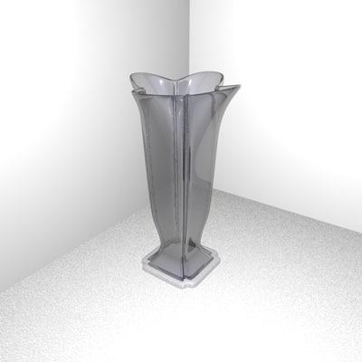 c4d vase flower glass