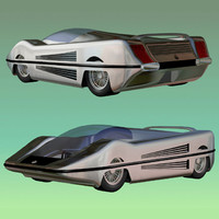 prototype 1 futuristic car 3ds
