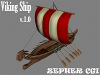 viking ship 3d max