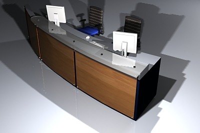 3dsmax office reception desk
