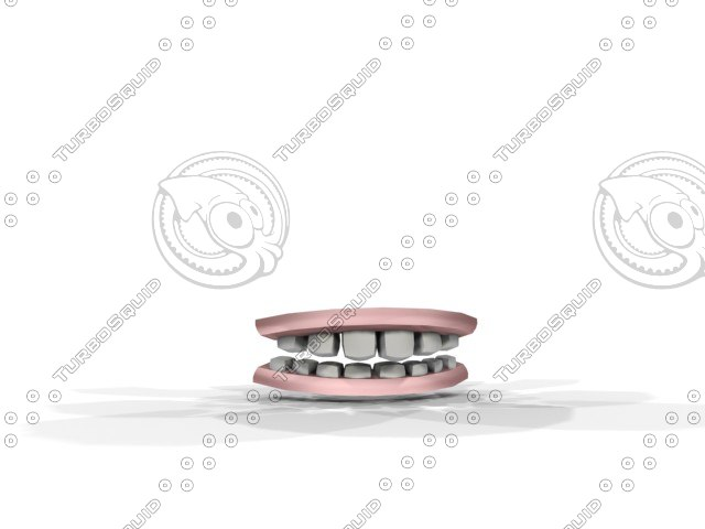 teeth character 3d model