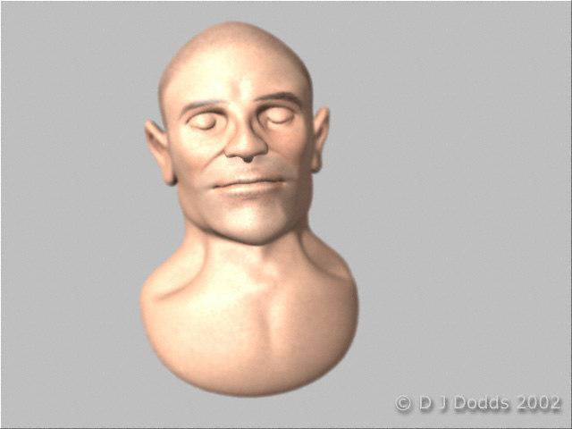 3d model human face head