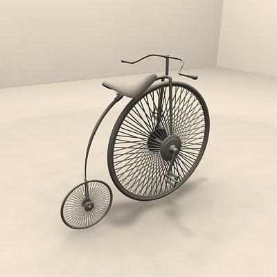 3d model farthing bicycle