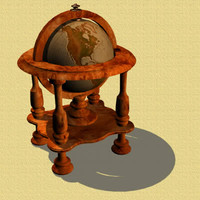 antique globe 3d model