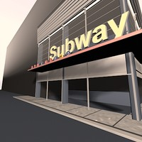 3d subway urban square model
