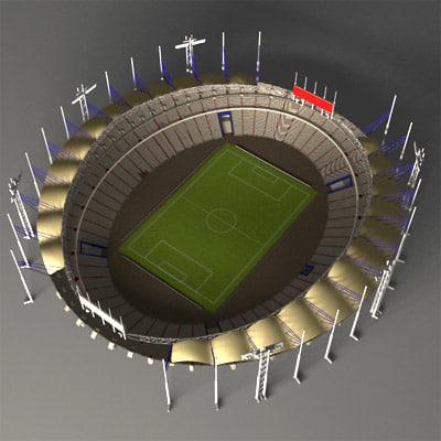 soccer stadium 3d lwo