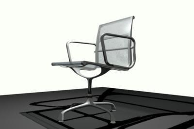 eames chair 3d ma
