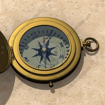 3dsmax compass antique brass