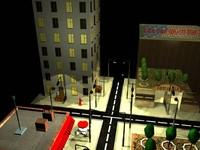 3d city street model