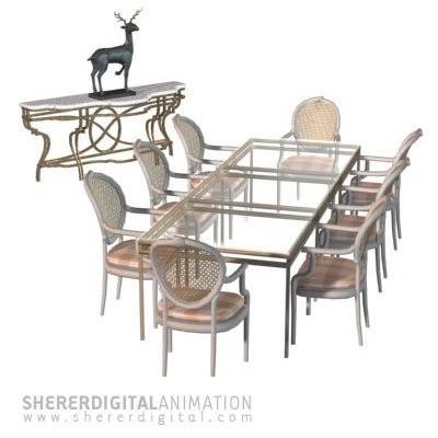 3d table statue model