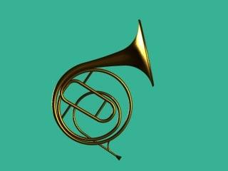 3d model horn