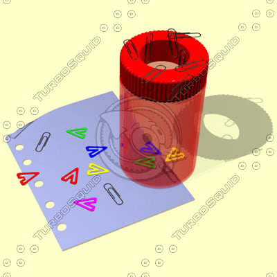 paper magnetic paperclip 3d model