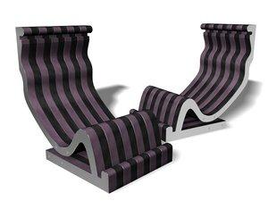 3d model of designer furniture