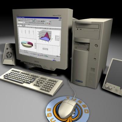 3d model desktop computer